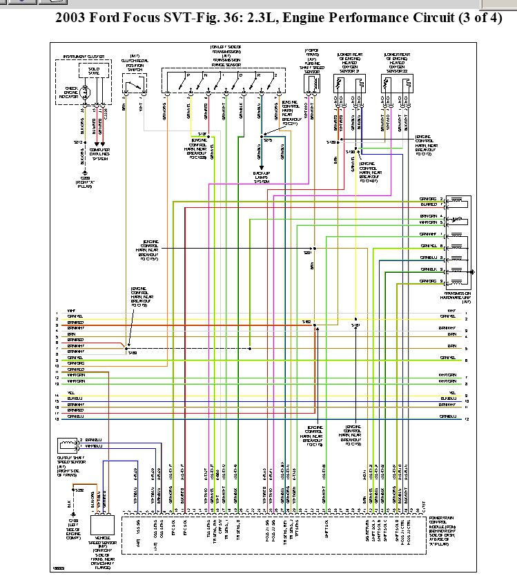 help locate a connector: i did an engine swap on a 2003 ford focus, Wiring diagram