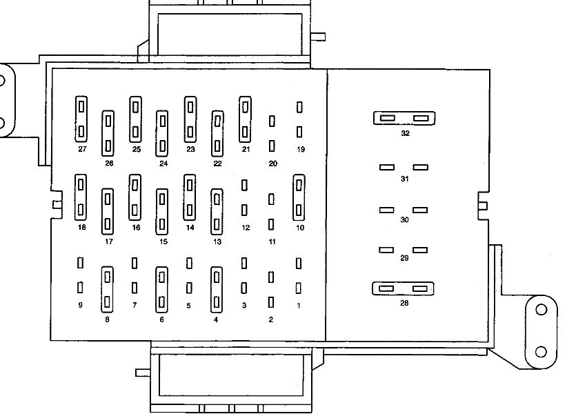 original fuse panel diagram needed i need a fuse panel diagram, lower 2004 ford crown victoria police interceptor fuse box diagram at crackthecode.co