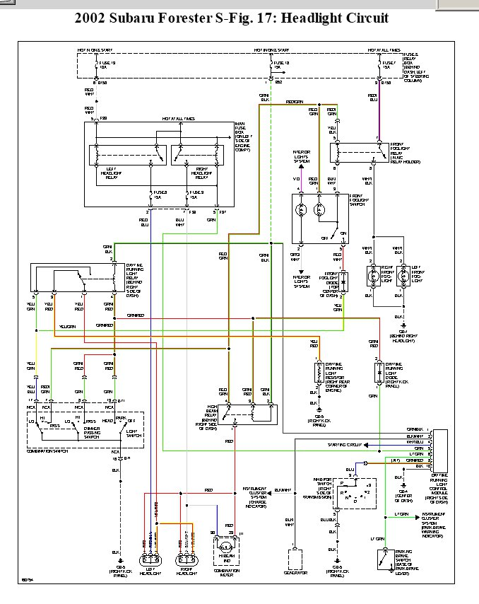 2002 Subaru Forester All 4 Parking Lights Stay On Even With Key. Subaru. 2003 Subaru Forester Ignition Wiring Diagram At Scoala.co