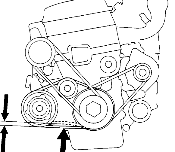 service manual  how to remove fan belt on a 1994 geo