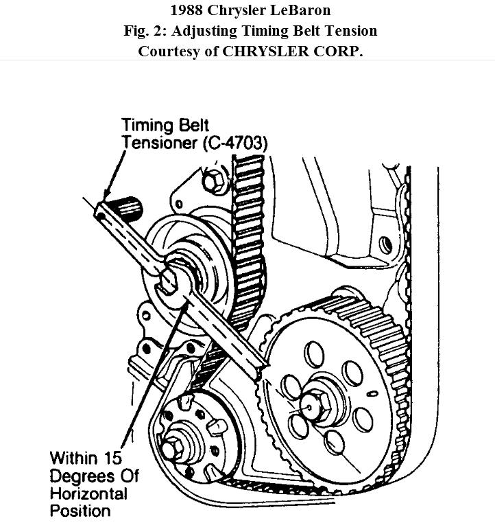 engine is 2 2 how to replace reliant timing belt