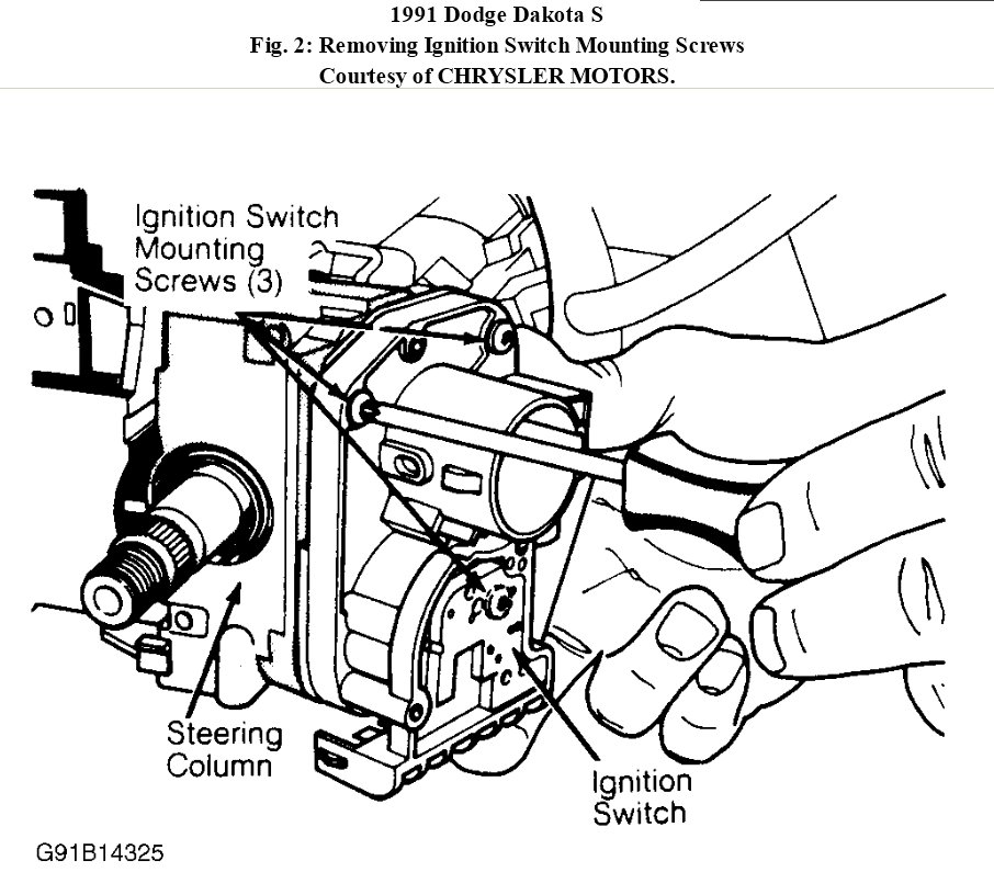 2011 dodge dakota ignition switch how to