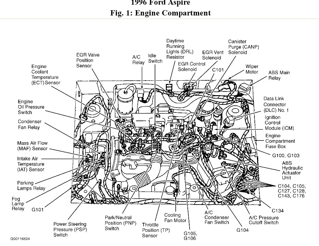 1995 ford aspire vacuum diagram  ford  auto wiring diagram
