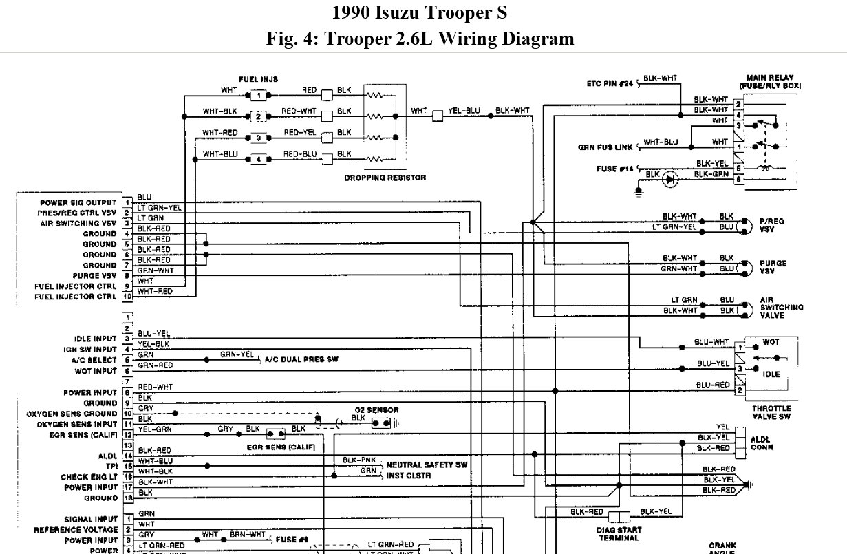 radio wiring schematic for 1993 isuzu trooper wiring schematic for isuzu pick up isuzu bighorn wiring diagram - wiring data