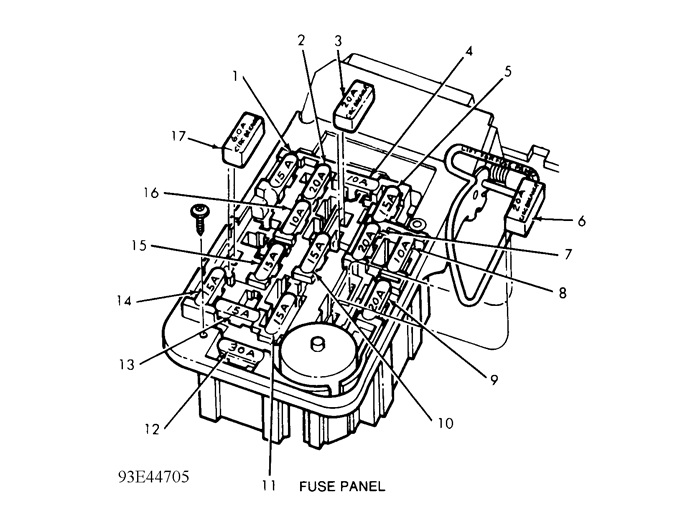 1989 Ford Ranger Need Fuse Panel Diagram For 89 U0026 39  Ford Range