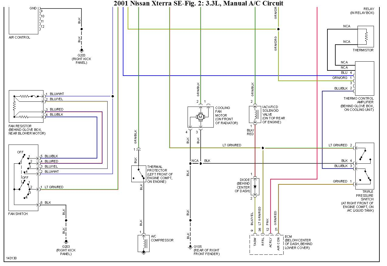 2002 Nissan Frontier 3 Engine Wire Diagram 44 Wiring Parts Original 2001 Xterra A C Pressure Switch Not Work At Cita