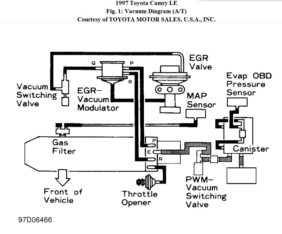 evaporative system diagram 2001 toyota corolla  toyota  auto parts catalog and diagram
