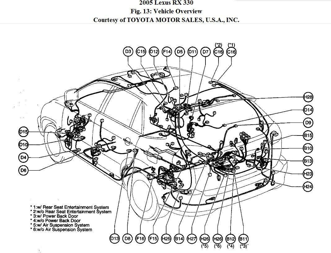 2004 lexus rx330 light diagram  lexus  auto parts catalog