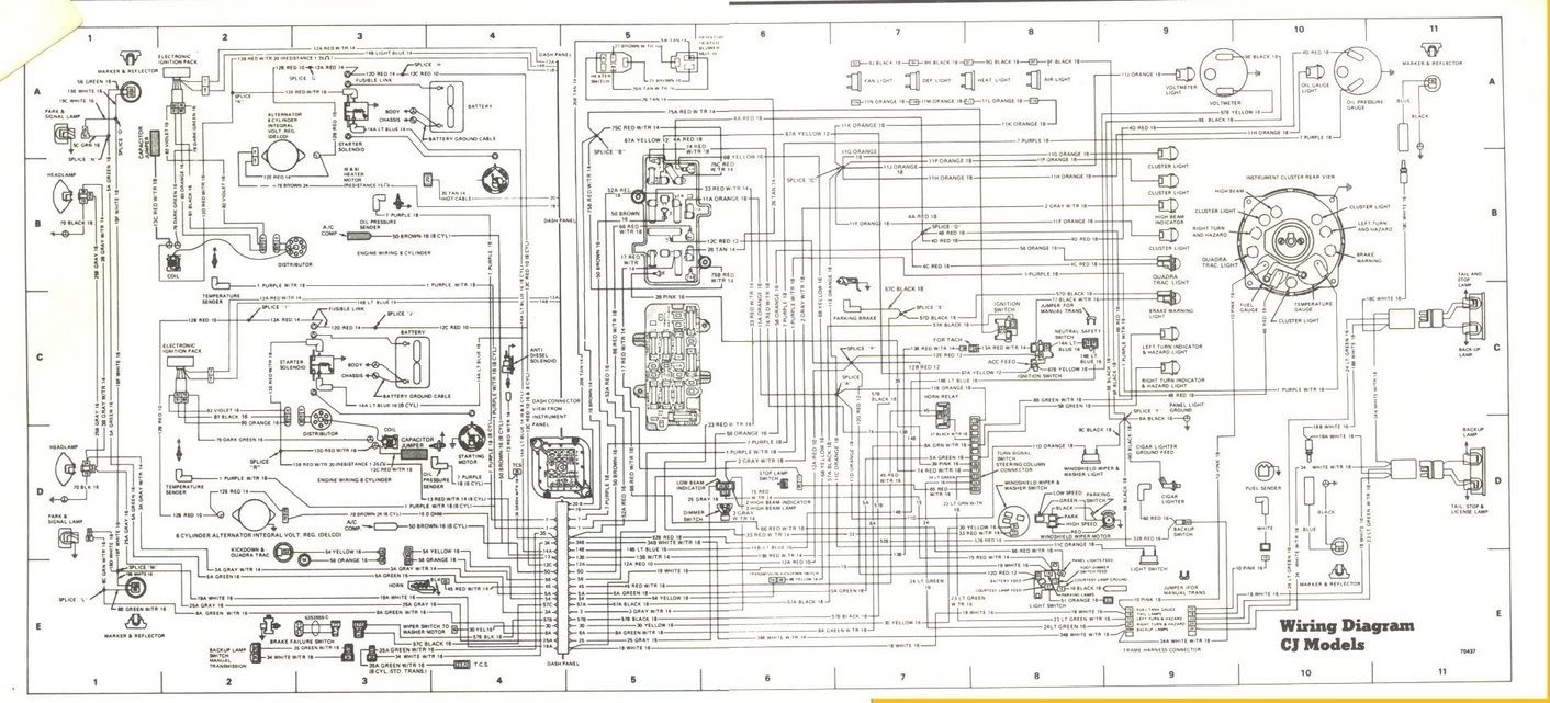 jeep cj factory tach wiring schematic Images Gallery. 84 cj7 258 now no  click at solenoid no crank was page 2 rh 2carpros com