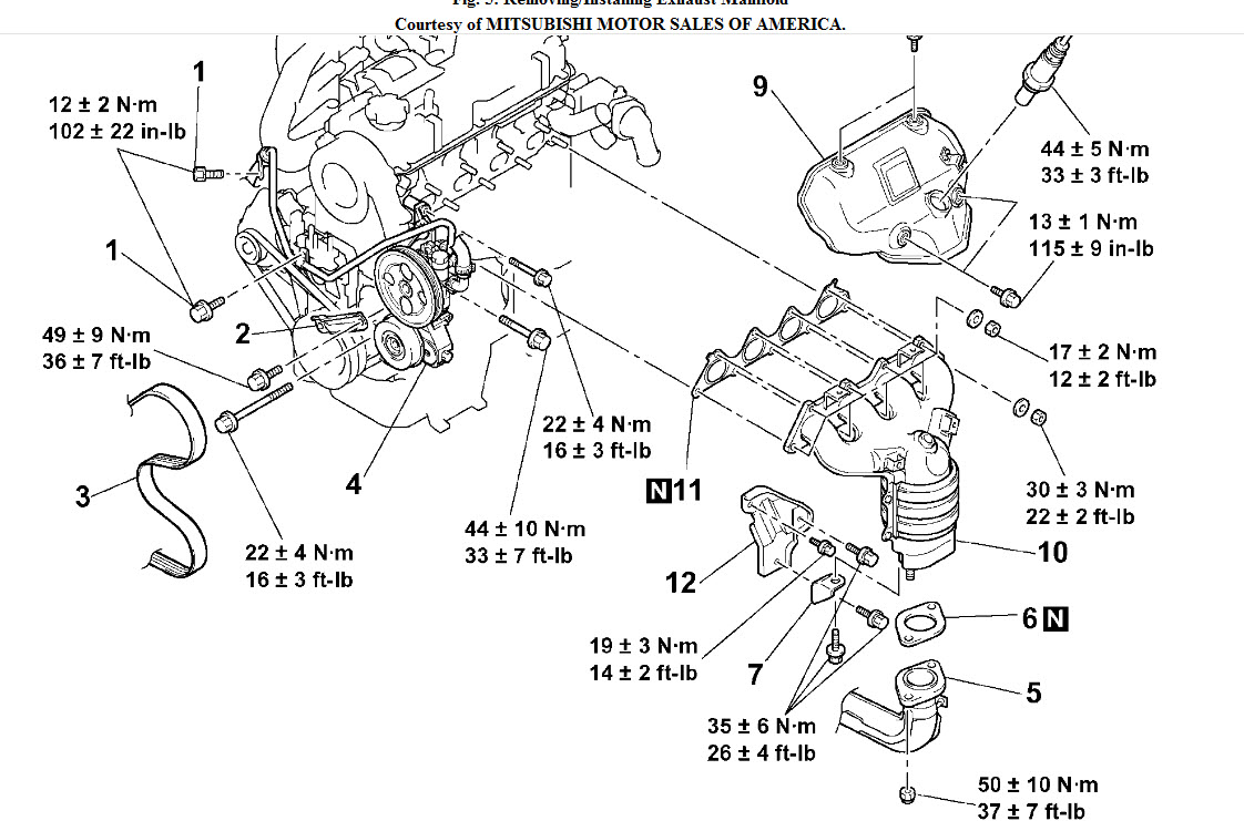 2002 Mitsubishi Lancer Exhaust Diagram on 2004 mitsubishi endeavor parts catalog