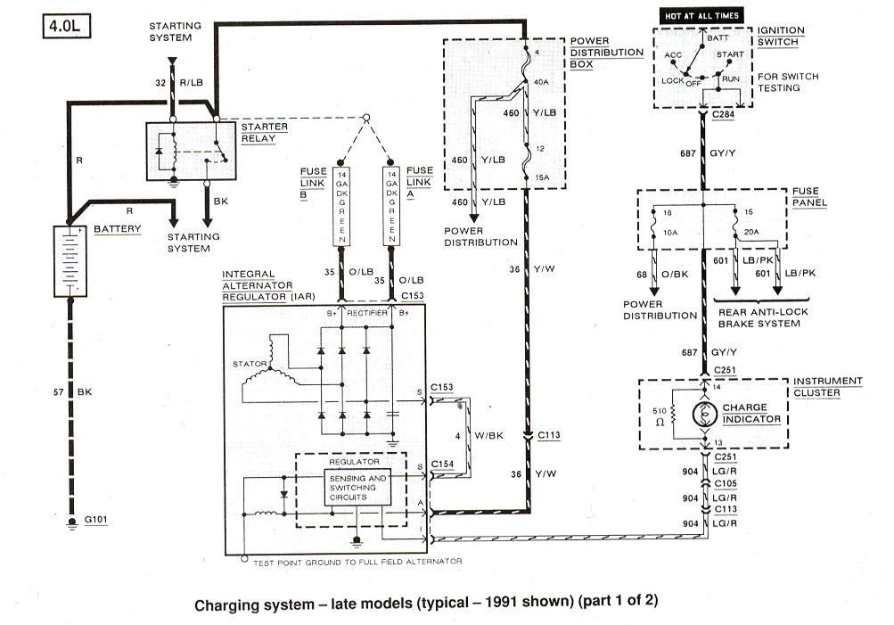 original my alternator quit charging 94 ranger 4x4 4 0l i have tried 4 04 explorer wiring diagram at eliteediting.co