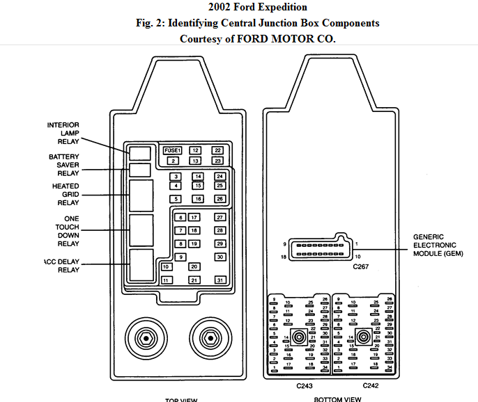 original i have an idle air control problem Ford Expedition Fuse Panel Diagram at aneh.co