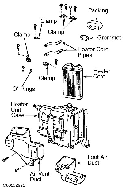 how to install heater core in 2000 toyota pickup