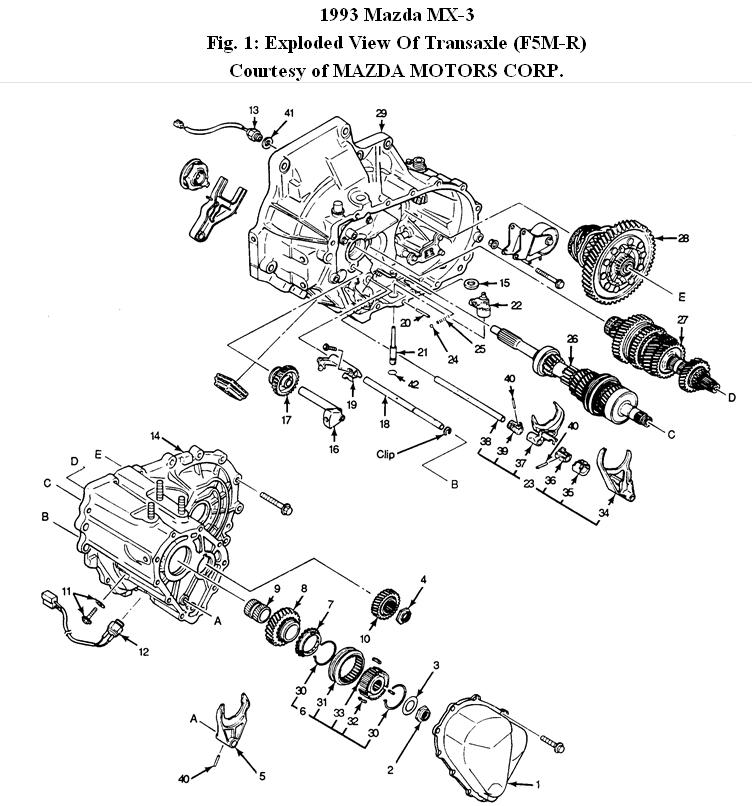 1993 mazda mx3 gs engine diagrams