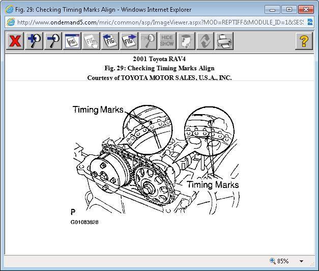 Timing Chain? Cranks but Won't Start: 2001 RAV4 2WD, Manual