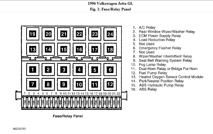 original 1996 volkswagen jetta relay box diagram i need a picture diagram 2006 VW Jetta Fuse Box Diagram at edmiracle.co