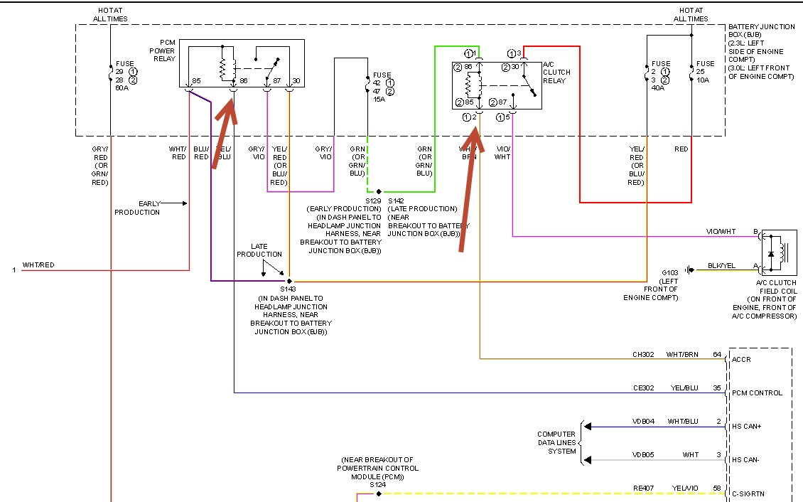 ford fusion ac wiring diagram