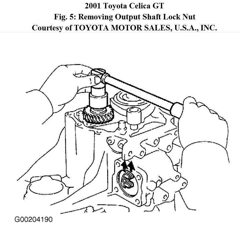 2001 toyota celica gts manual transmission diagram  toyota