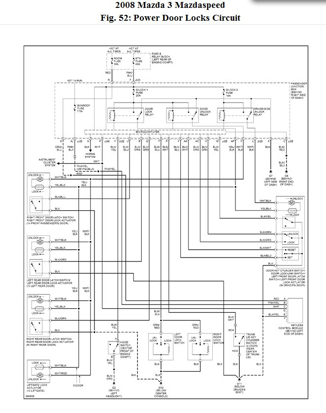 Wiring Diagram 2008 Mazda 3 : Front passenger power doesn t work mazda