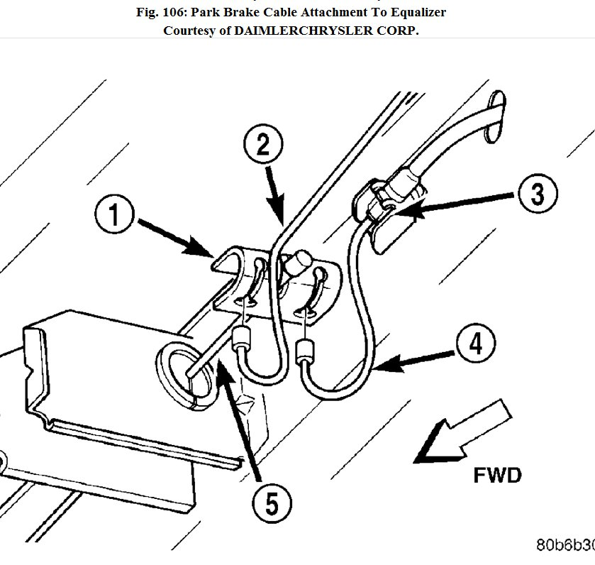 how do you replace the front emergency brake cable