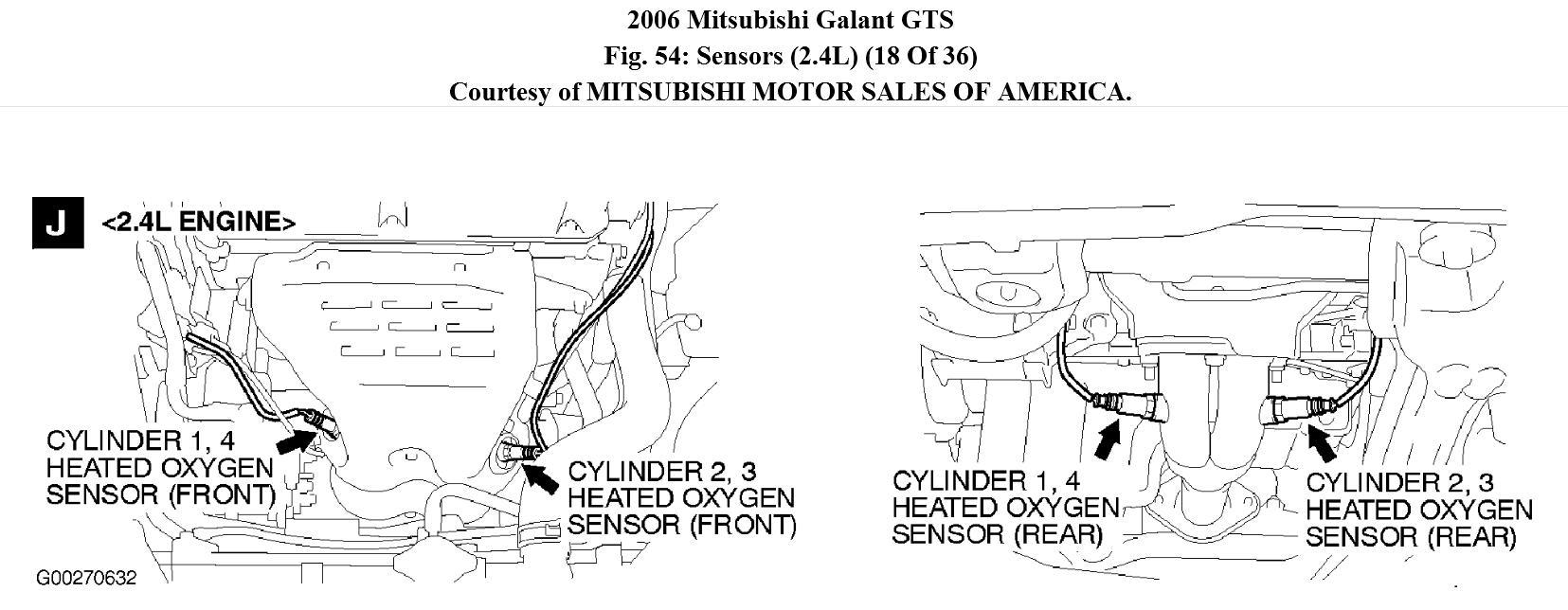 2006 mitsubishi galant code p0421  car has check engine