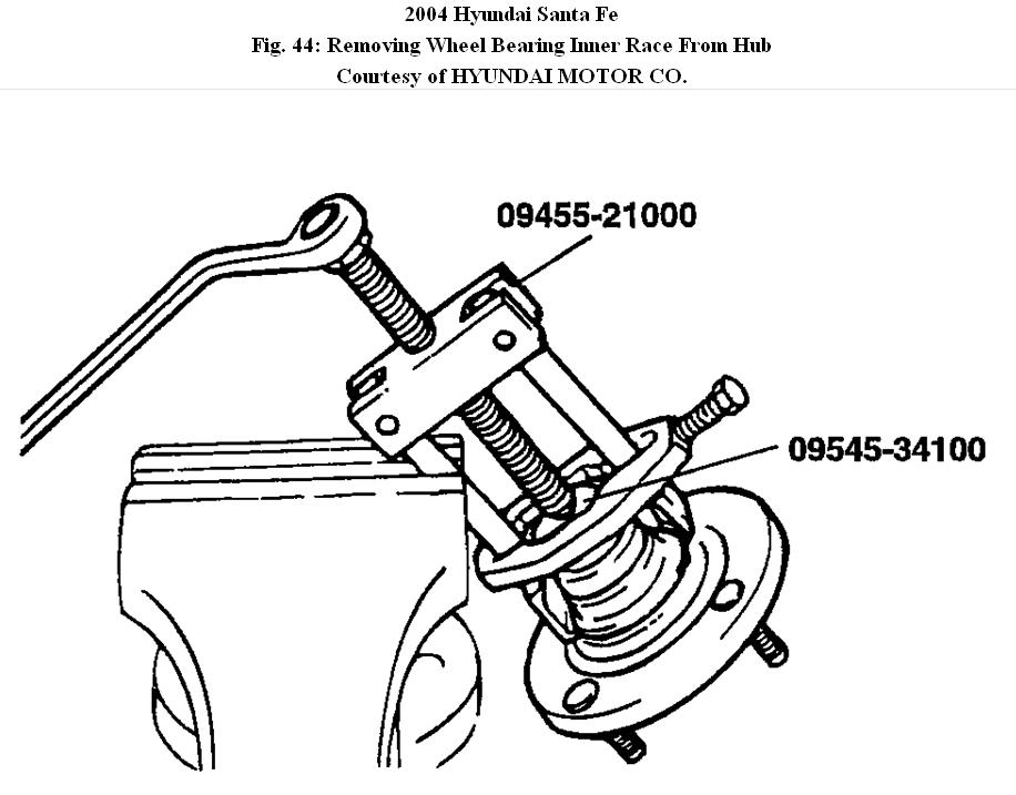 2004 hyundai santa fe wheel assembly  do you have a diagram of the