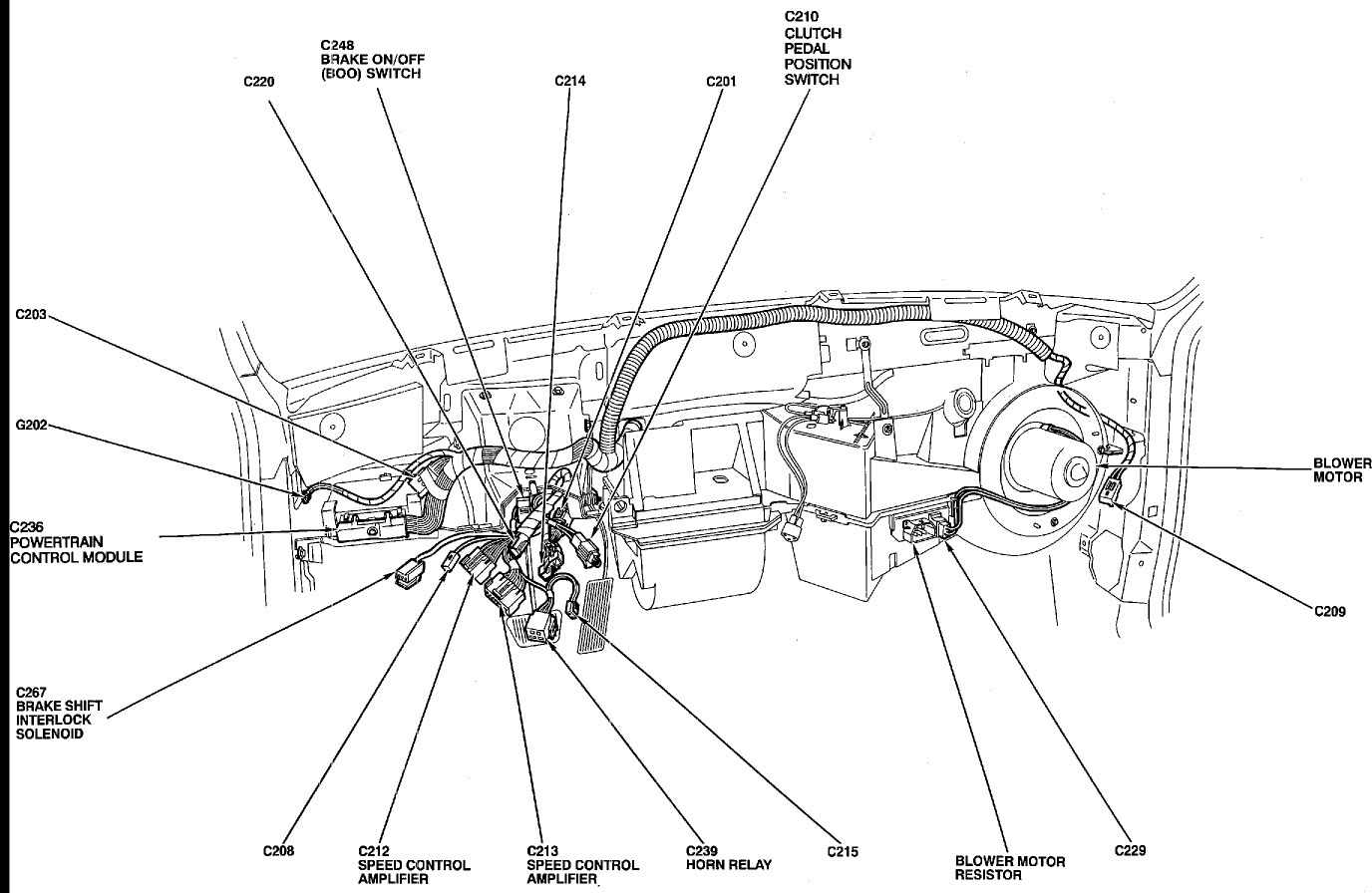 1993 ford tempo blower motor wiring diagram