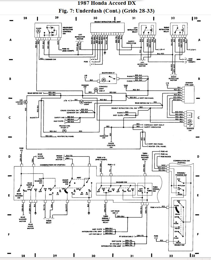 1996 honda accord headlight wiring diagram   42 wiring