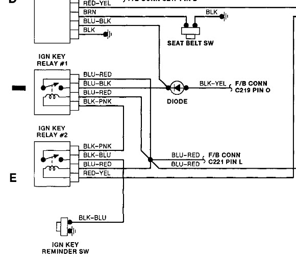 Where Is The Diode That Controls Ignition Key Relay In A 1991. Wiring. Ignition Key Wiring Diagram At Eloancard.info