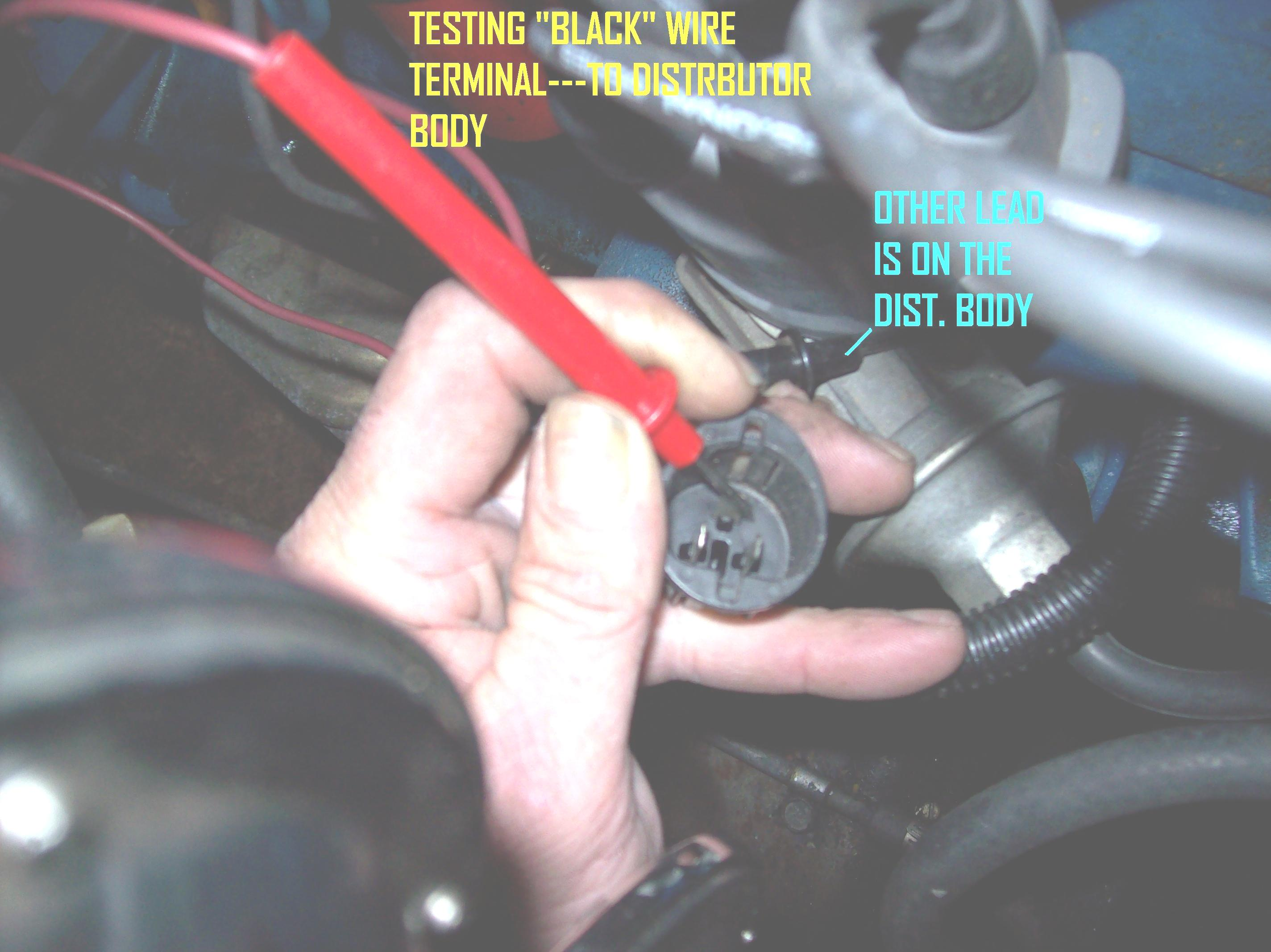 Ignition Problem No Spark To The Distributor Cap Gm Dis Coil Wiring Thumb