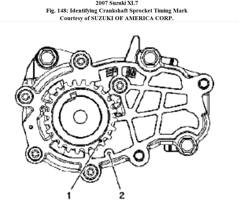 timing arrangement camshaft and cranshaft for xl7