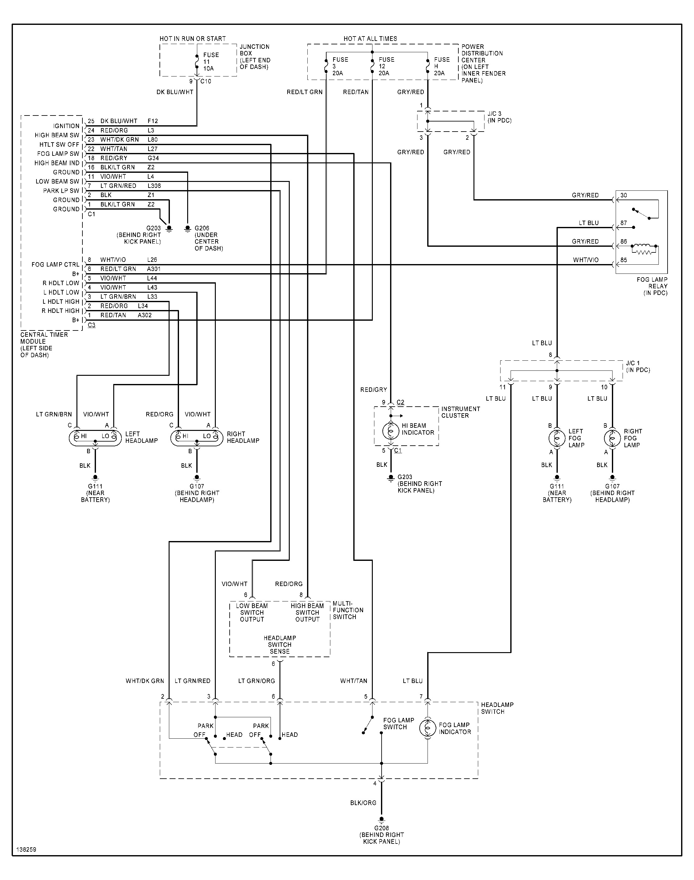 Headlamp Wiring Diagram For 2003 Dodge Dakota - DIY Wiring Diagrams •