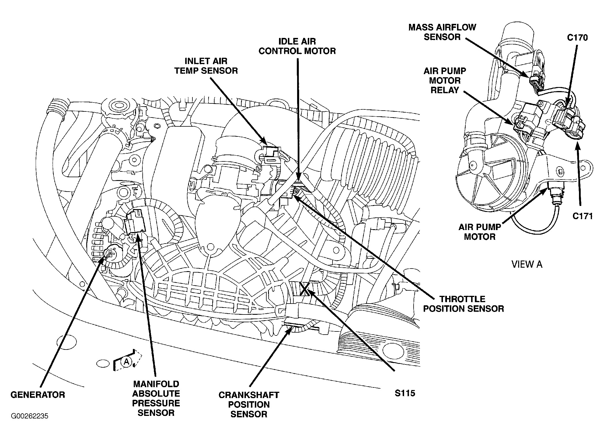 1999 ford 4 6 engine diagram maf