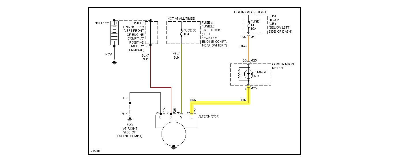 2009 Nissan Murano Alternator Wiring Diagram