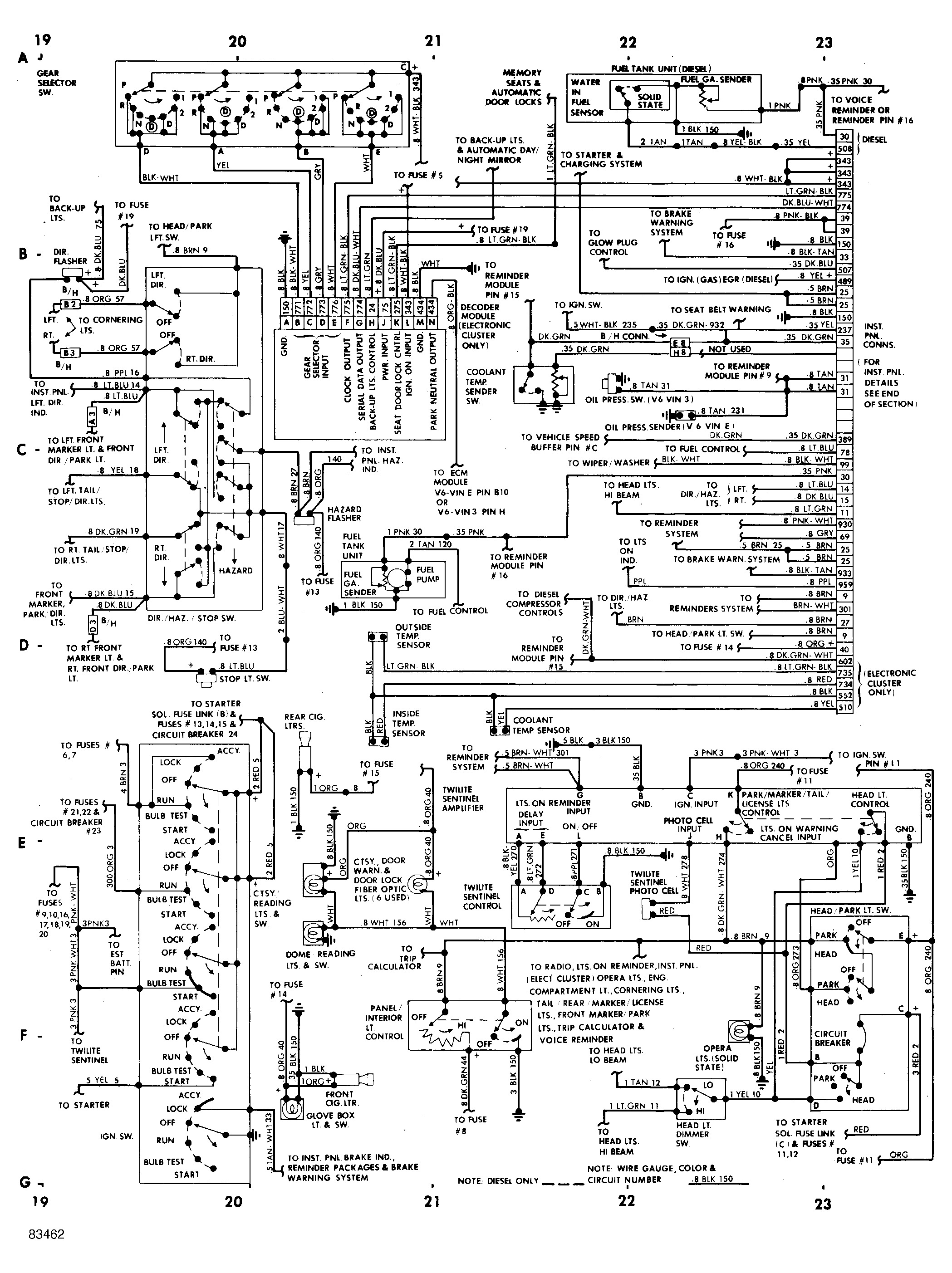 service manual  1985 buick electra manual wiring sch