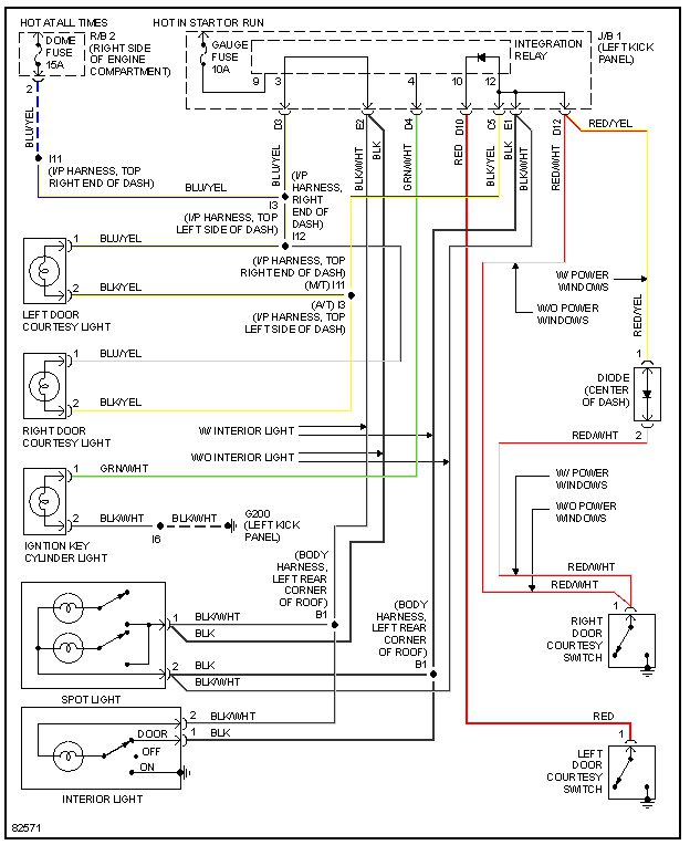 89 toyota pickup dome light wiring diagram   42 wiring
