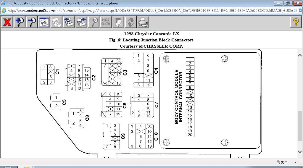 1998 chrysler concorde bcm blower motor running on high  95 concorde bcm wiring diagram #11