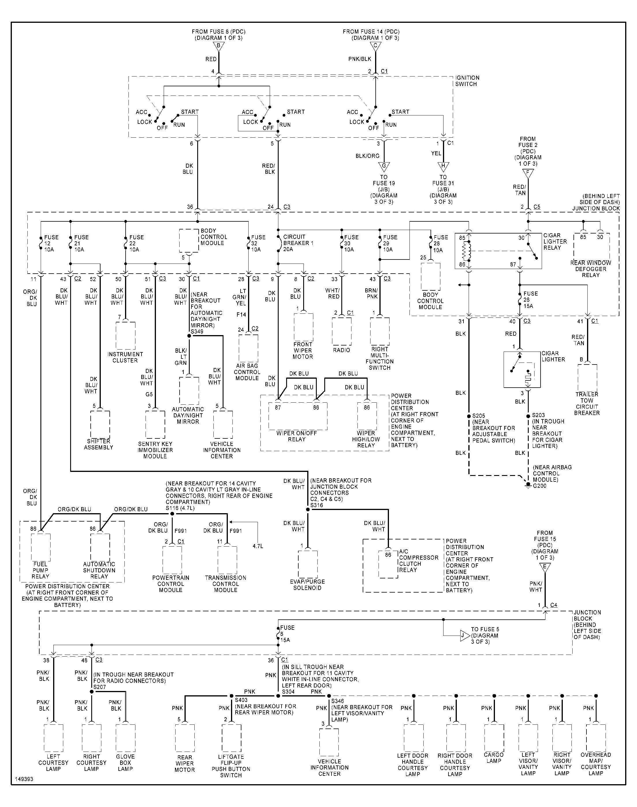 2002 Jeep Grand Cherokee Electrical Problem Recently Lost Power Fuse Diagram Thumb