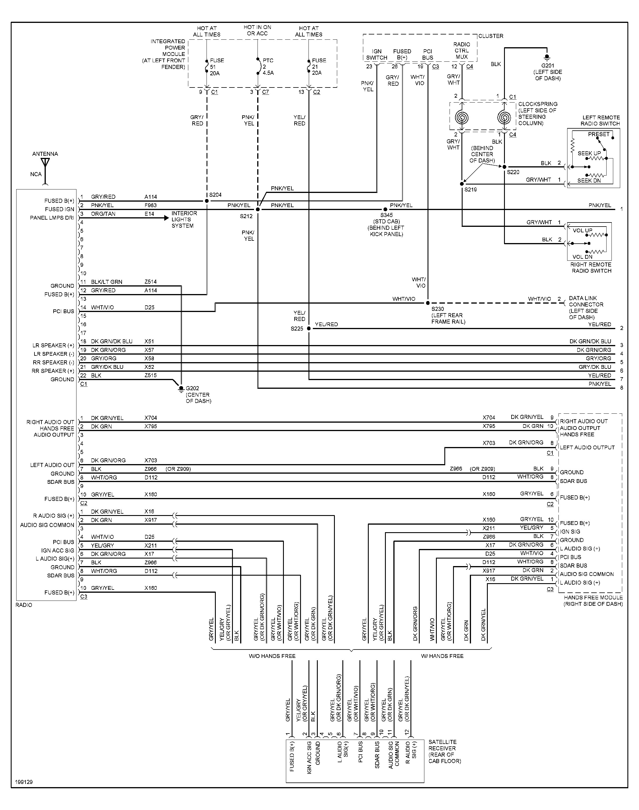 stereo wiring diagrams: v8 engine. i need the color code for the ...  2carpros