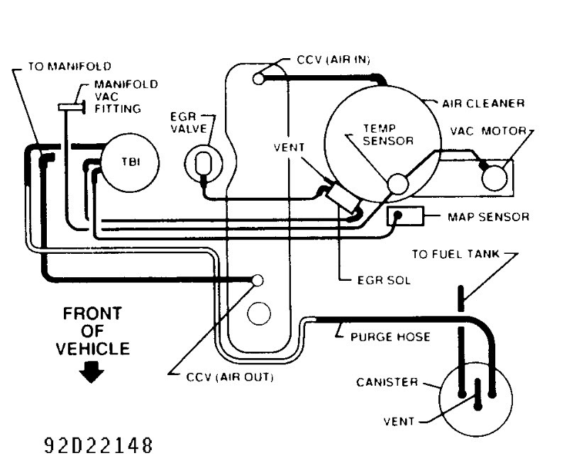 Wiring Diagram Database  2000 Chevy Blazer Evap System Diagram