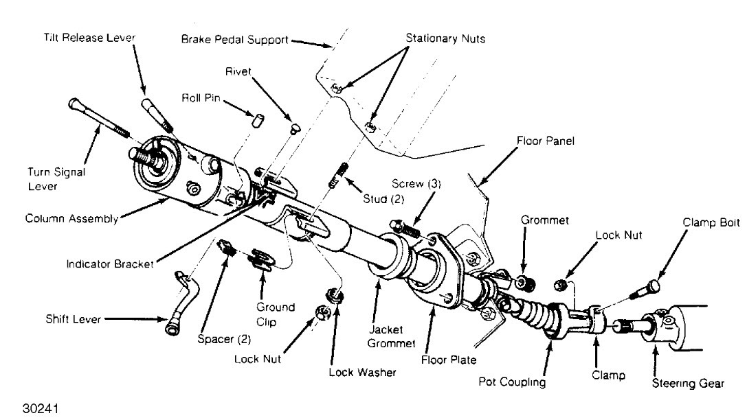 original 1988 chevrolet s 10 steering column complete tear down 2000 chevy s10 steering column wiring diagram at webbmarketing.co