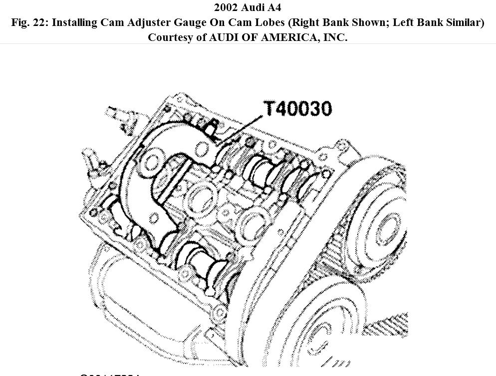 Setting Camshaft Timing On 2002 Audi A4 Camshaft Moved When