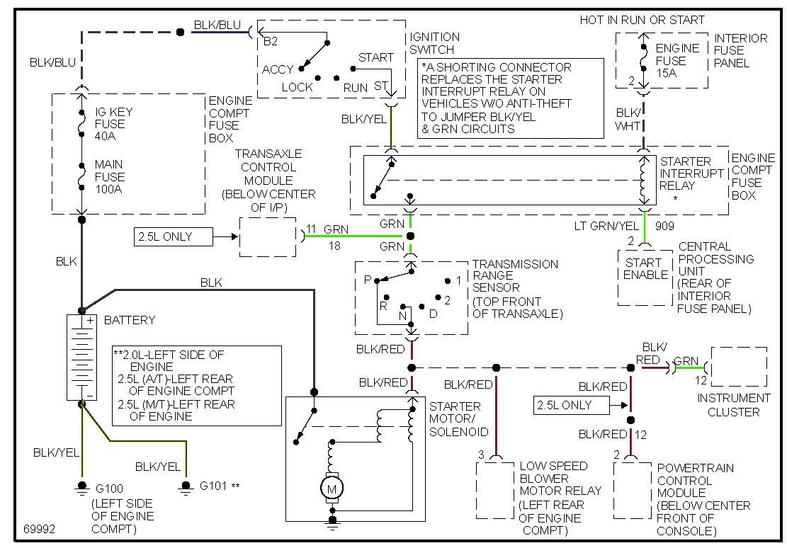 Ford Probe Wiring Auto Electrical Diagram Mitsuba Rz 0028 1994
