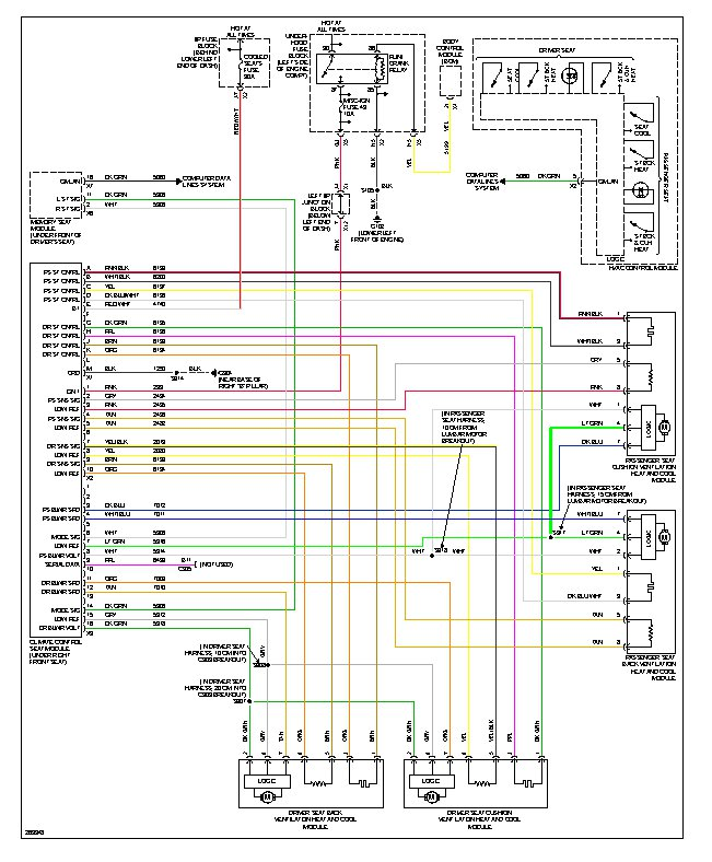 2008 cadillac escalade ext fuse diagram the heated and cooling seats dont work on either side?