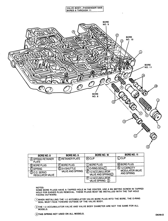 aod valve body diagram transmission  will not shift from 2nd to 3rd gear     aod     transmission  will not shift from 2nd to 3rd gear     aod