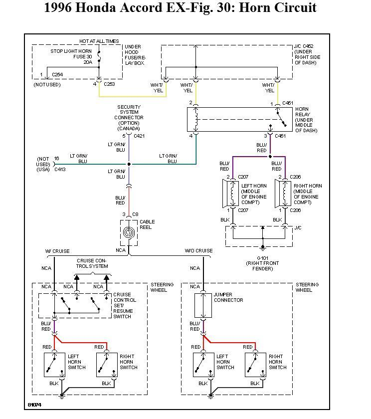 2001 honda accord horn location - wiring diagrams image free