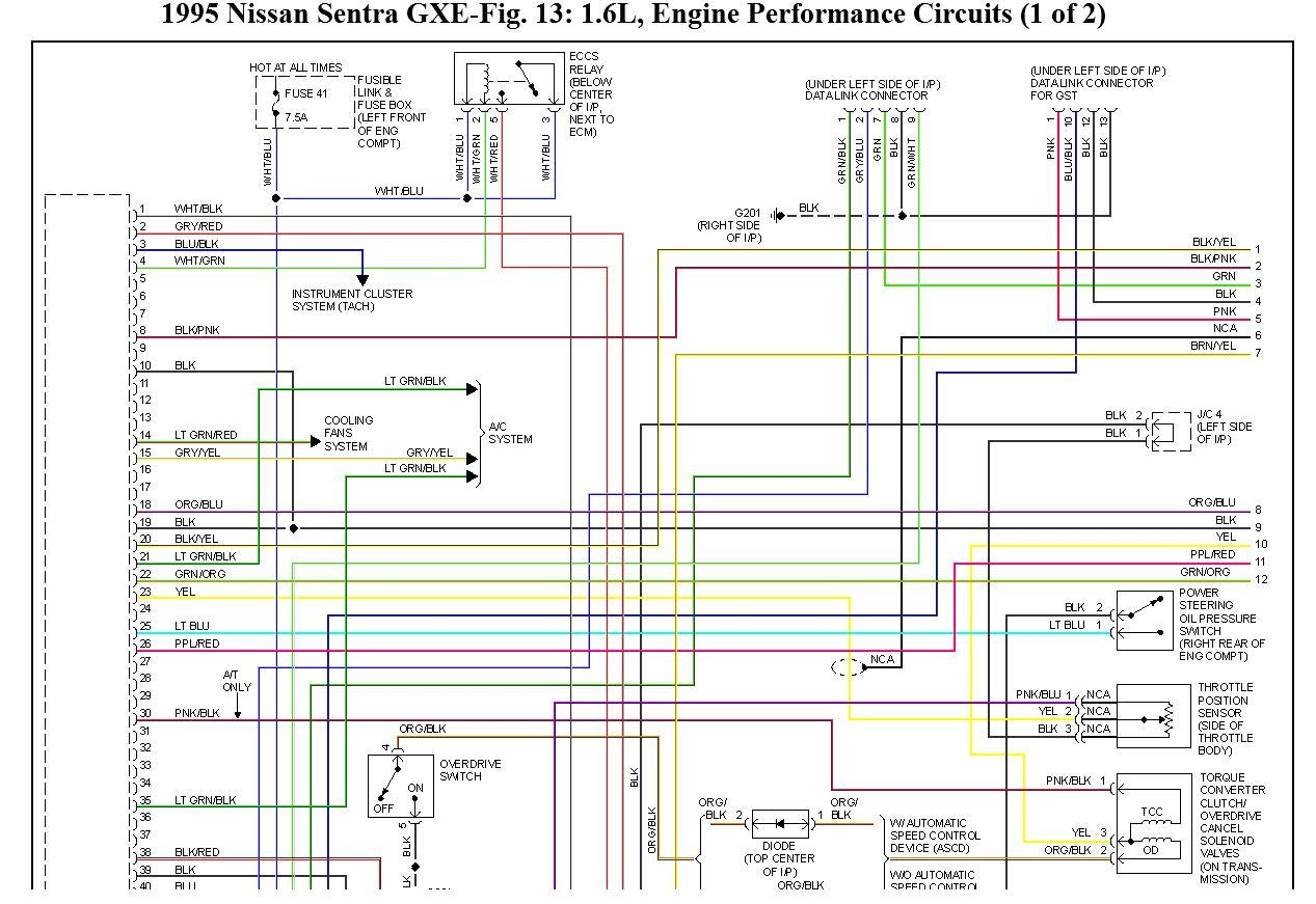 original wiring diagram for nissan sentra gxe 1995 wiring problem, 2004 nissan maxima engine wiring harness at arjmand.co