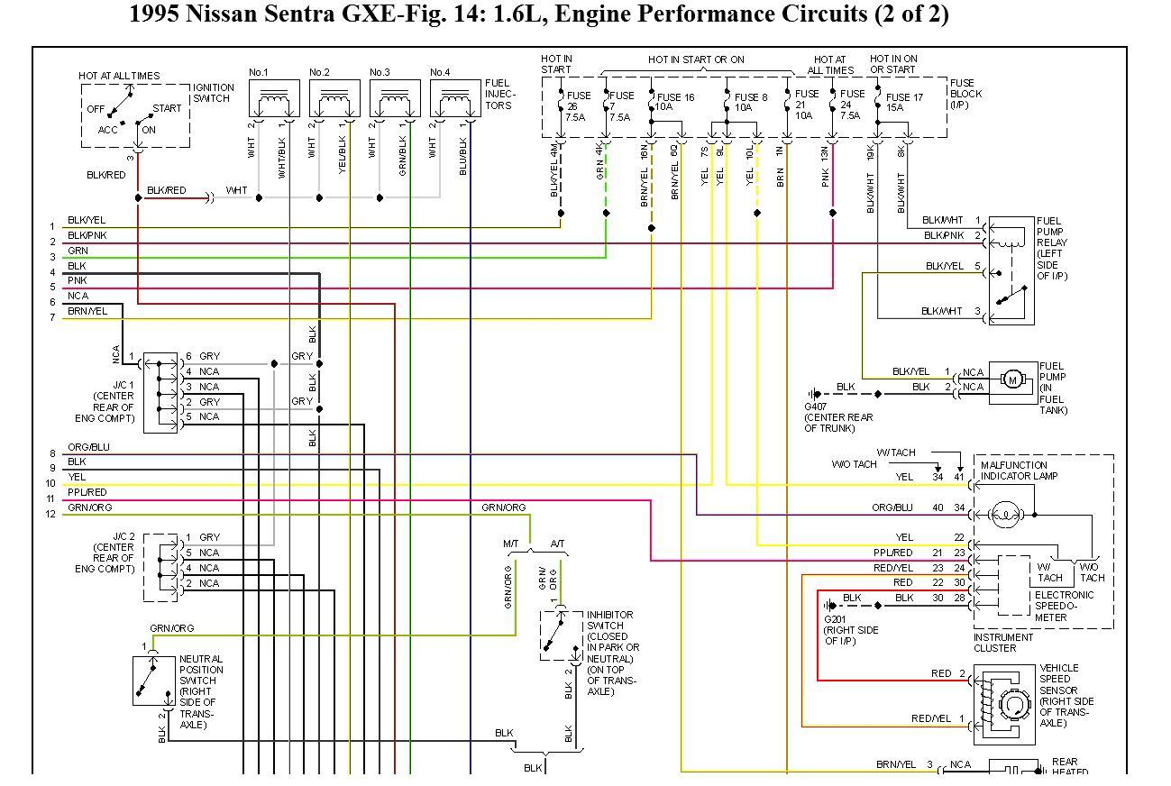 original wiring diagram for nissan sentra gxe 1995 wiring problem, nissan sentra electrical diagram at bayanpartner.co