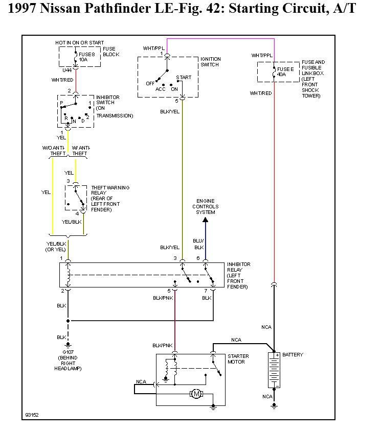 Nissan Pathfinder 1997 Wiring Diagram