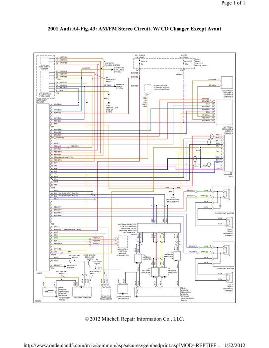 large does the hot lead on a 2001 audi a4 symphony radio have a fuse? audi symphony radio wiring diagram at virtualis.co